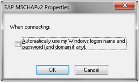 EAP MSCHAPv2 Properties
